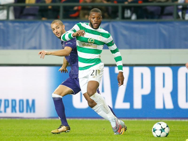 Celtics Olivier Ntcham (r) erzielte den 1:0-Siegtreffer gegen den FC Dundee
