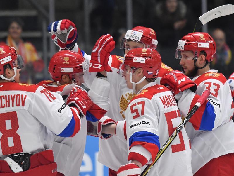 Die Eishockeyspieler Russlands sollen auch in Pyeongchang um einer Medaille kämpfen