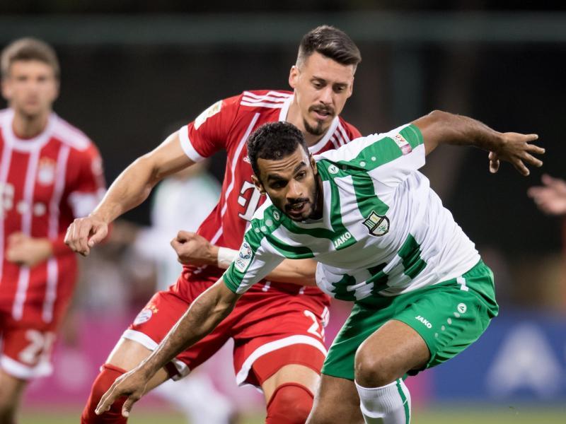 Sandro Wagner (l.) traf für den FC Bayern gegen Al Ahli