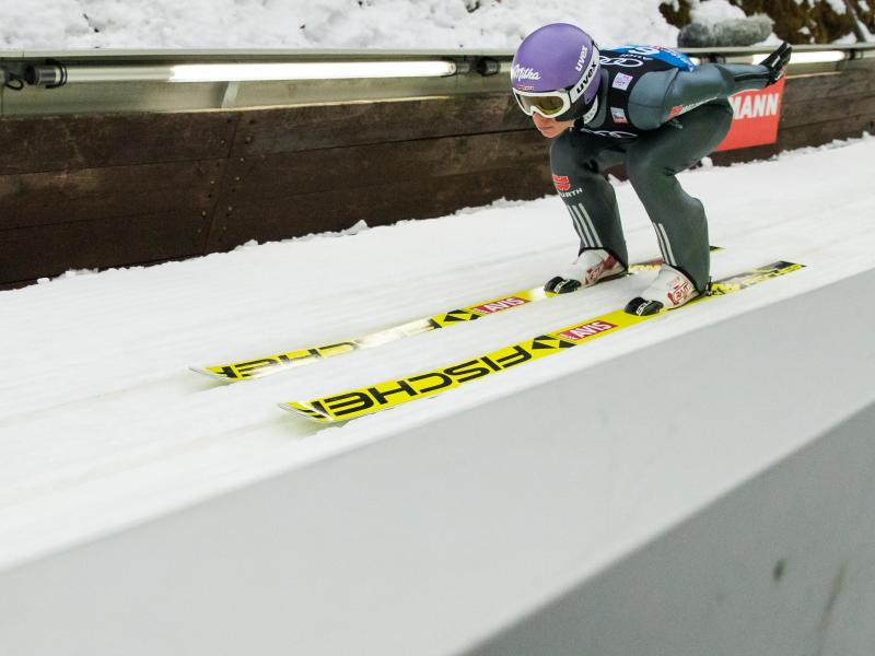 Andreas Wellinger startet beim Skifliegen am Kulm