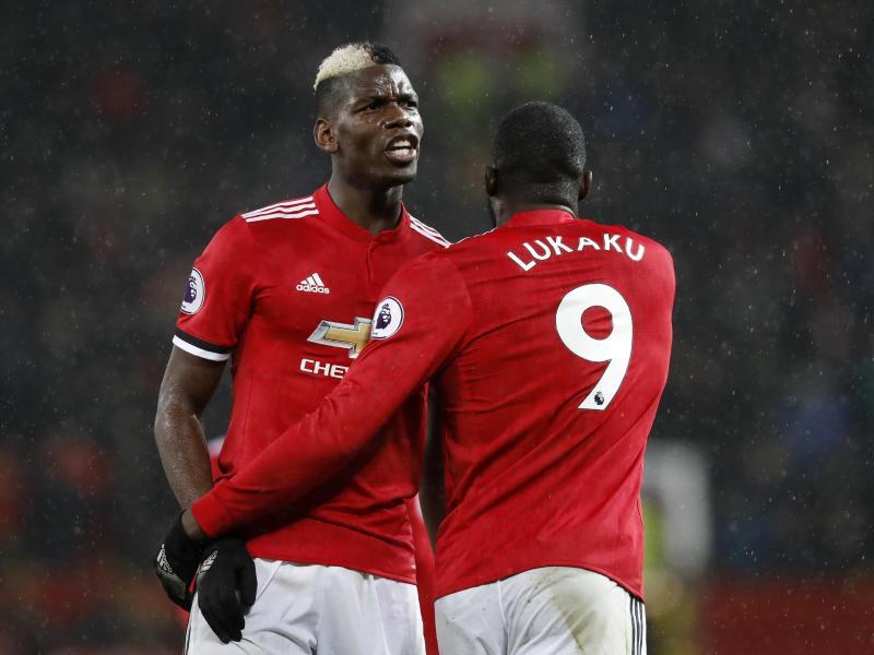 Ihre Dienste ließ sich Manchester United fast 200 Millionen Euro kosten:Romelu Lukaku (l) und Paul Pogba.