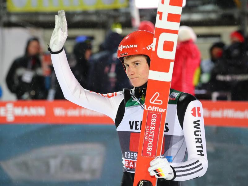 Wurde nicht für das Einzelspringen der Skiflug-WM in Oberstdorf nominiert: Karl Geiger. Foto: Daniel Karmann