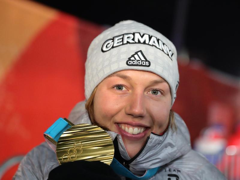 Laura Dahlmeier will sich in der Verfolgung die nächste Medaille holen