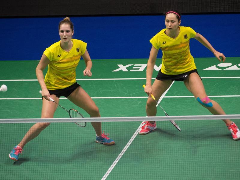 Mit der Niederlage von Carla Nelte (l) und Johanna Goliszewski war die Final-Pleite besiegelt