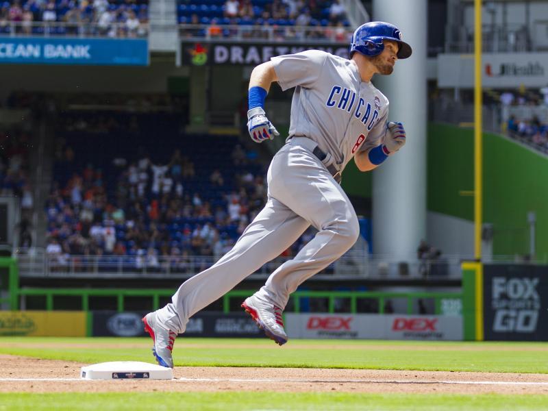 Ian Happ von den Chicago Cubs verwandelte den ersten Pitch der Saison gleich zu einem Homerun
