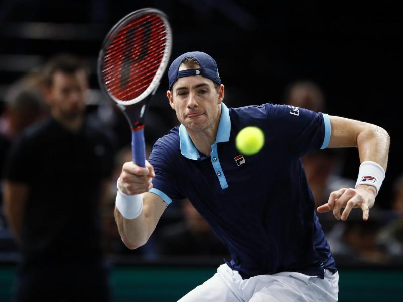 John Isner setzte sich im Halbfinale überraschend klar gegen Juan Martín del Potro durch.