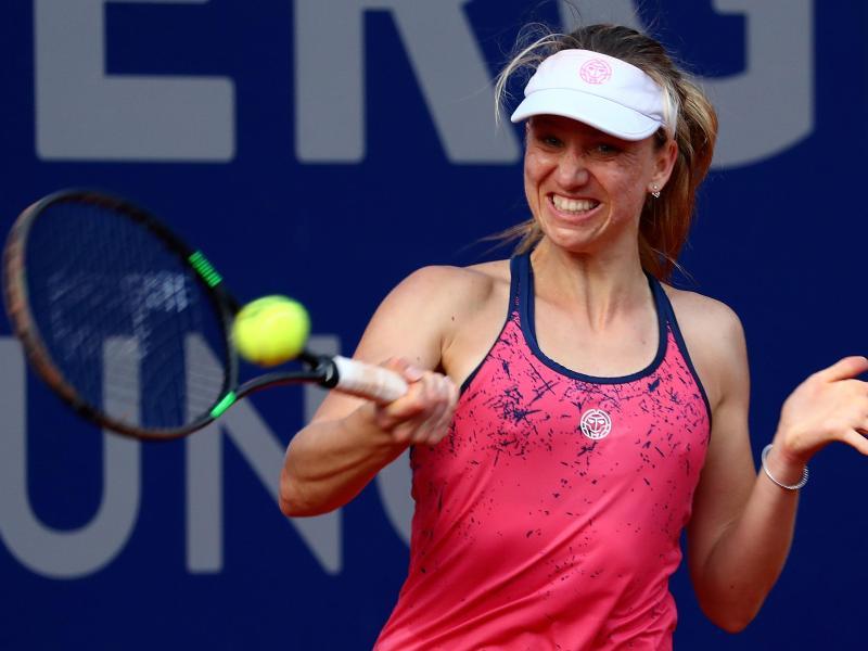 Tennisspielerin Mona Barthel aus Deutschland zieht ins Viertelfinale in Nottingham ein