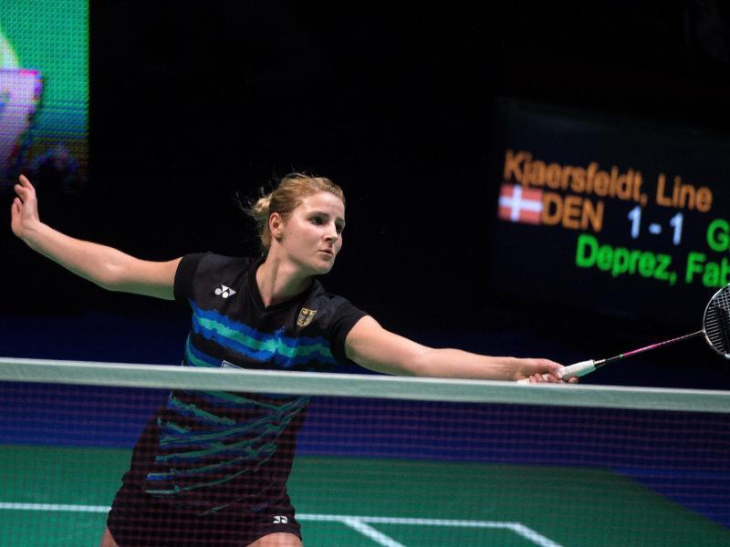 Die Deutsche Fabienne Deprez hat bei den Badminton-Weltmeisterschaften in China die zweite Runde erreicht