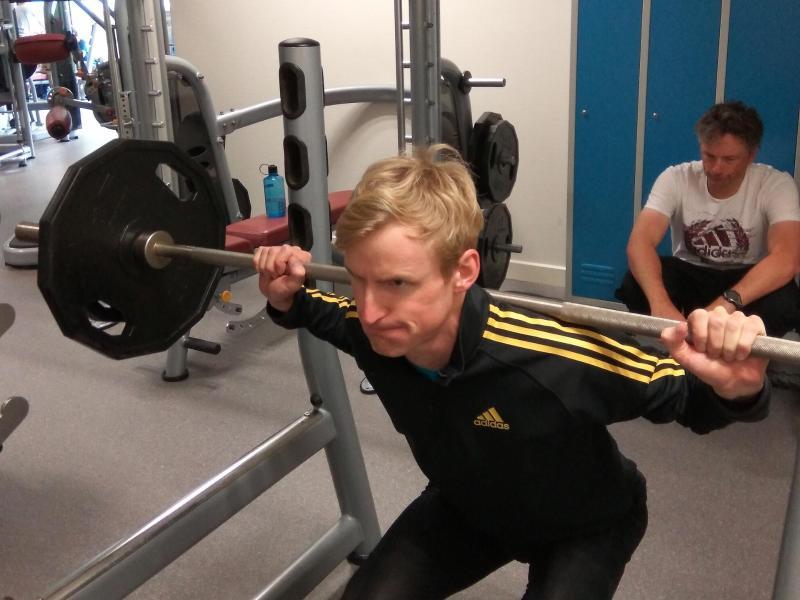 Trainiert für sein Comeback: Skispringer Severin Freund