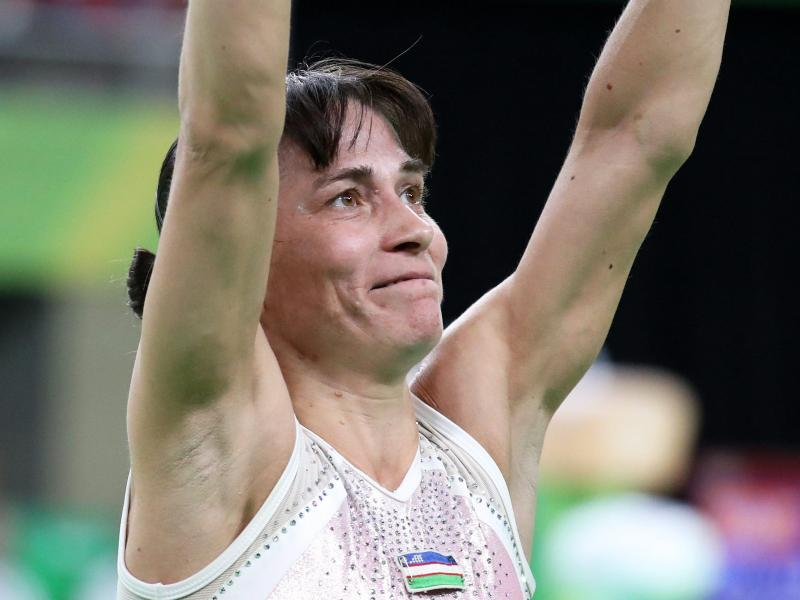Oksana Chusovitina wurde 1992 im Alter von 17 Jahren Olympiasiegerin