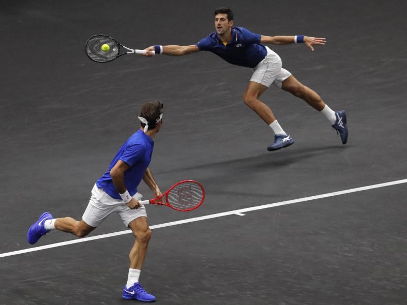Das europäische Doppel mit Novak Djokovic und Roger Federer verlor das Doppel beim ersten Tag des Laver Cups