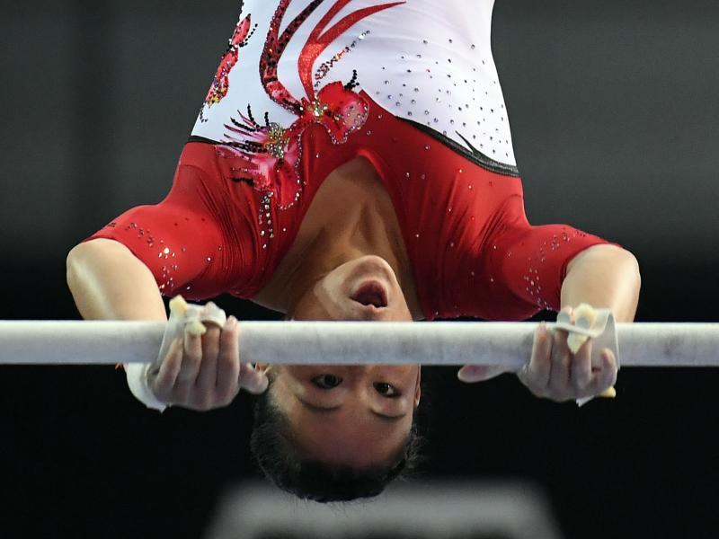 Mit 14,05 Punkten sorgte die Stuttgarterin Kim Bui für die beste individuelle Leistung am Stufenbarren