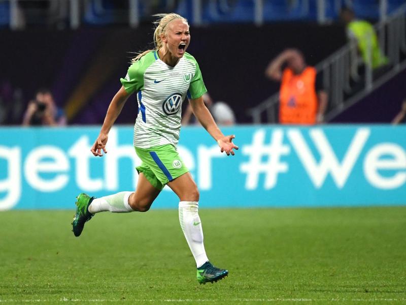 Traf im Rückspiel gegen Madrid doppelt: Wolfsburgs Pernille Harder
