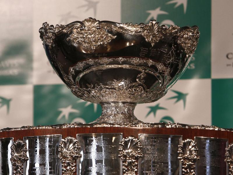 Die Davis Cup Trophäe