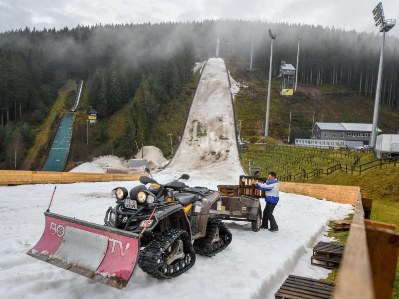 In Titisee-Neustadt sind die Ski-Bedingungen nicht gegeben