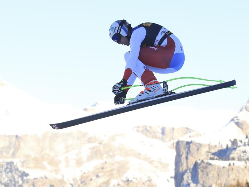 Marc Gisin stürzte schwer bei der Alpin-Abfahrt in Gröden