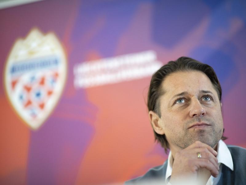 Helgi Kolvidsson wird als neuer Trainer der Fußball-Nationalmannschaft von Liechtenstein vorgestellt