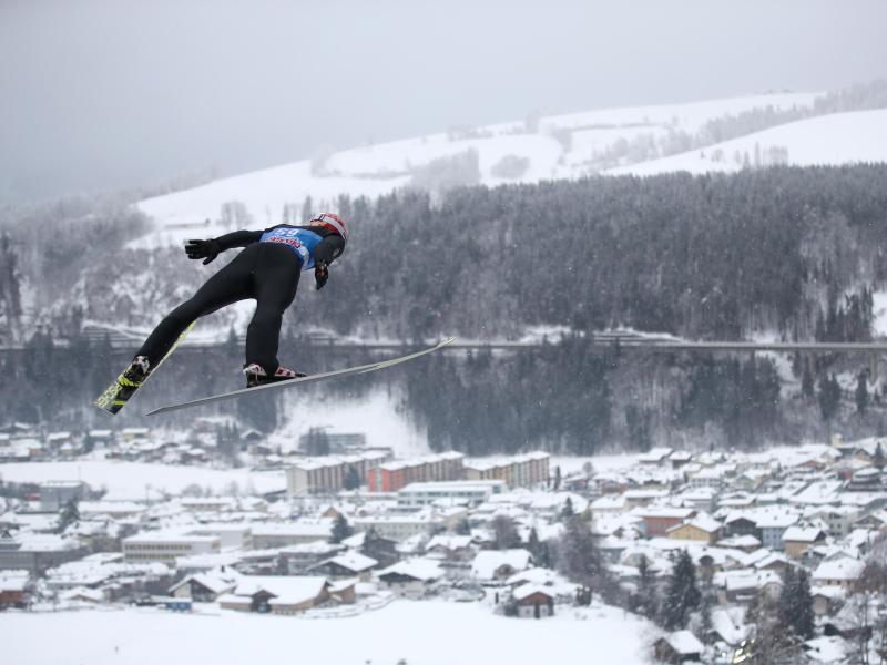 Markus Eisenbichler lieferte im Probedurchgang von Bischpfshofen den besten Sprung ab