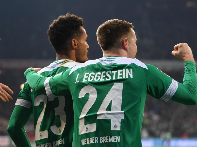 Johannes Eggestein erzielte vor dem Spielabbruch das einzige Tor für Werder