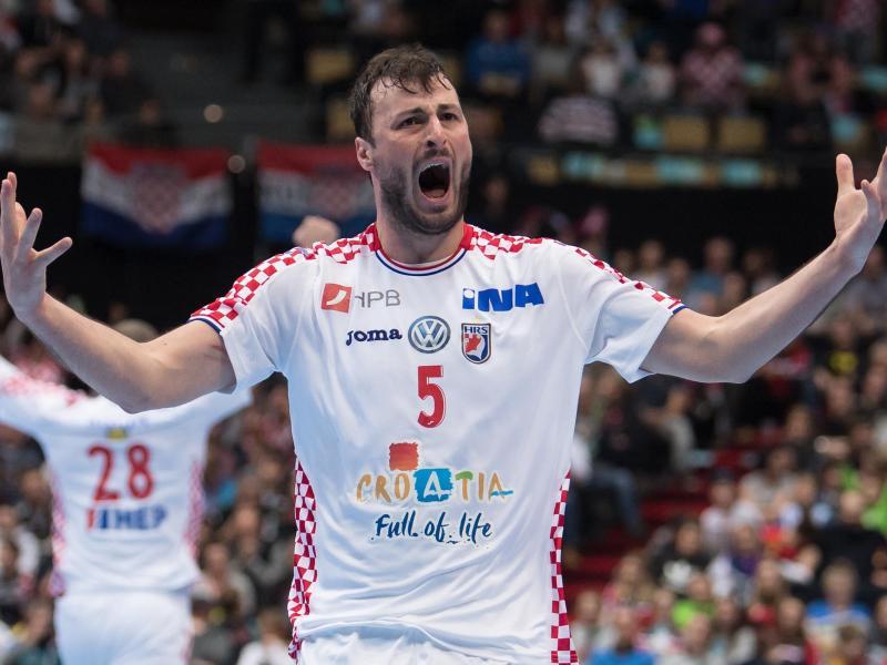Domagoj Duvnjak ist der Motivator des kroatischen Teams.