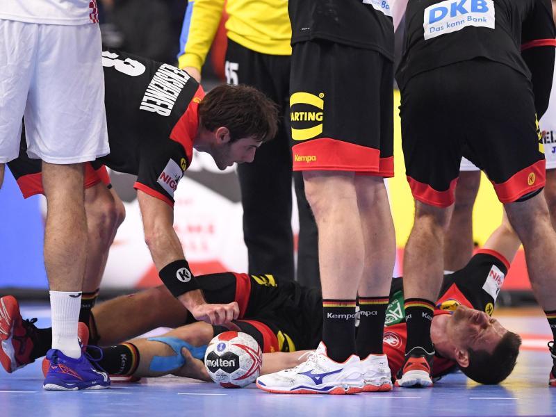 Martin Strobel hatte sich in der Partie gegen Kroatien schwer verletzt