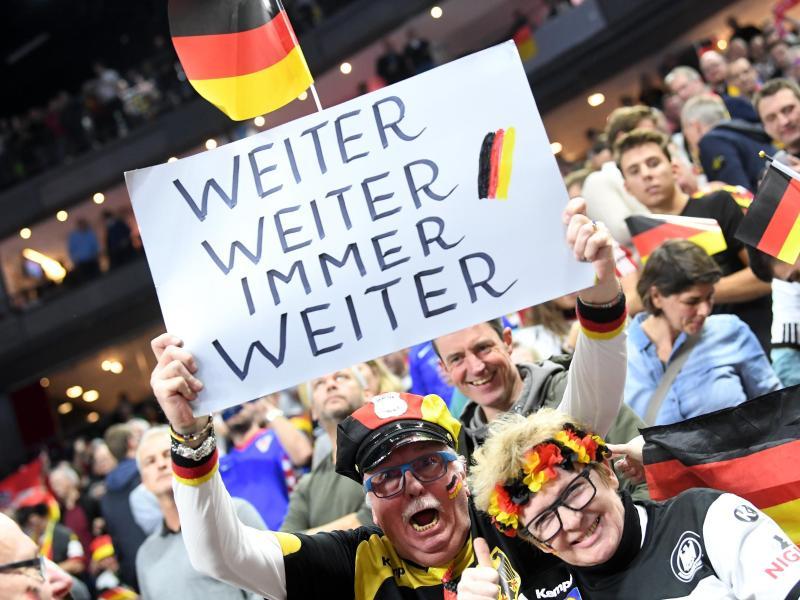 Nicht nur die Fans in der Halle sind vom DHB-Team begeistert