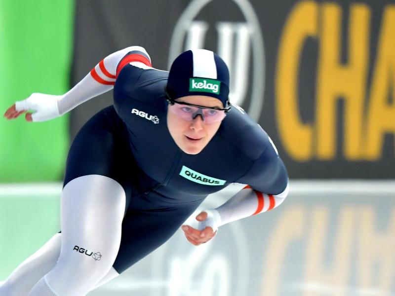 Über 500 Meter holte Vanessa Herzog bei der WM in Inzell den Sieg