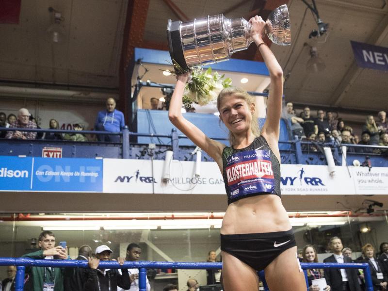 Konstanze Klosterhalfen siegte bei den Millrose Games in New York