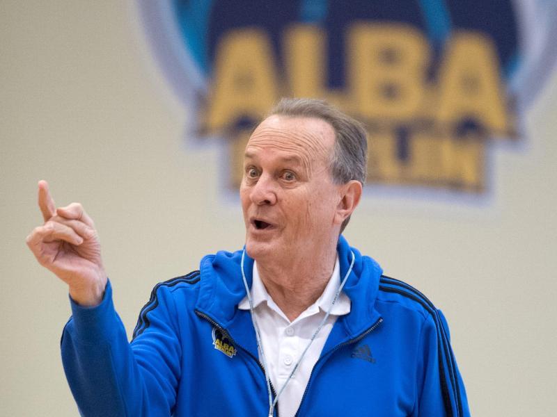 ALBA-Coach Aito Garcia Reneses trifft mit den Berlinern im Pokalfinale auf Brose Bamberg