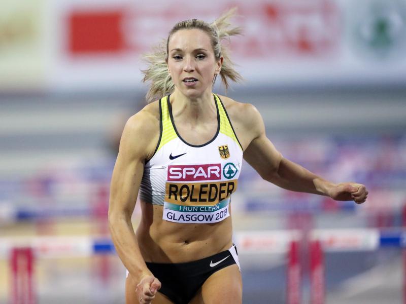 Cindy Roleder hat bei der Hallen-EM der Leichtathleten in Glasgow über 60 Meter Hürden Silber geholt