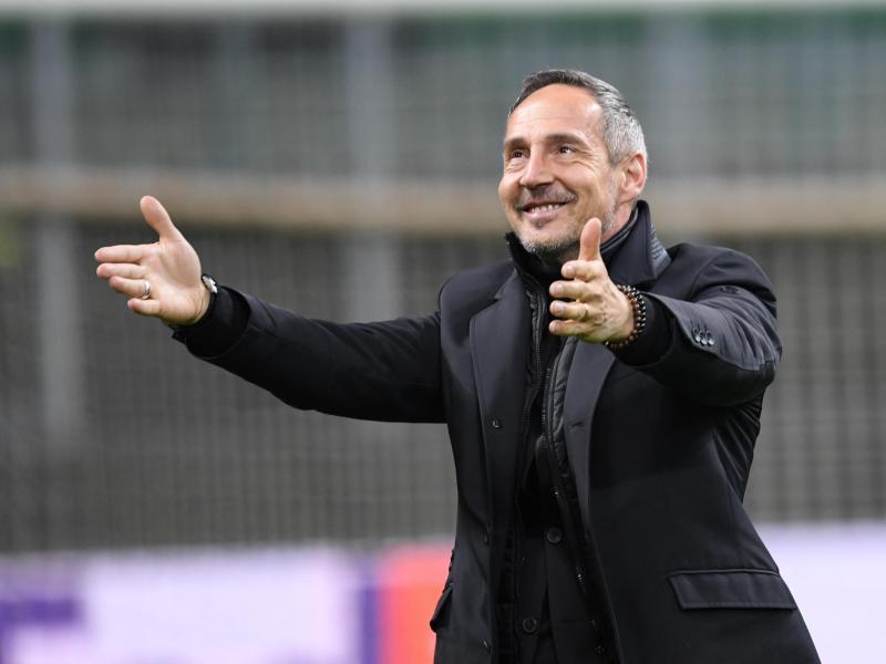 Gelassener Eintracht-Coach: Adi Hütter. Foto: Arne Dedert/dpa