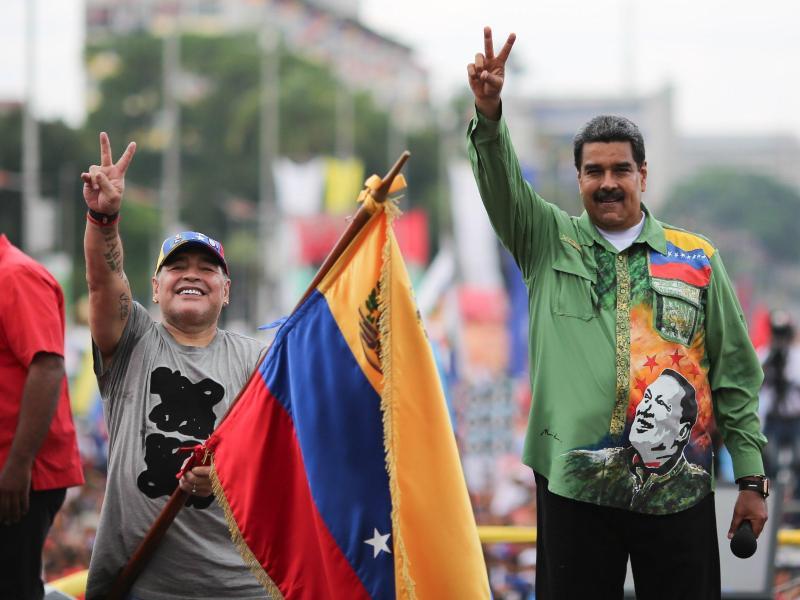 Diego Maradona sympathisiert offen mit Venezuelas Machthaber Maduro