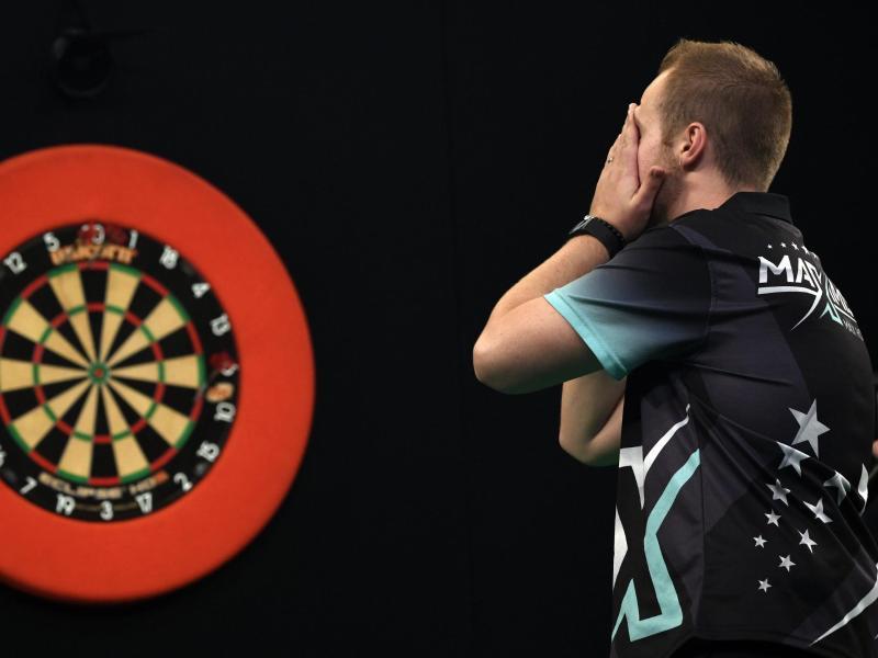 Der deutsche Darts-Profi Max Hopp hat die große Chance auf einen European-Tour-Titel vergeben