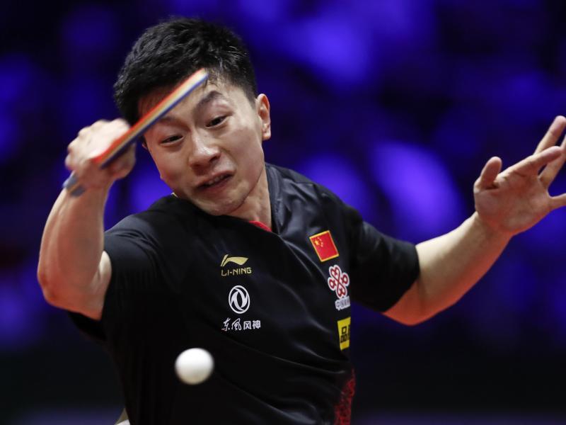 Der Chinese Ma Long hat sich im Finale klar gegen den Schweden Mattias Falck durchgesetzt