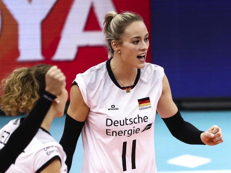 Die erfahrene Nationalspielerin Louisa Lippmann (11) führt zusammen mit Lenka Dürr das DVV-Team der Frauen an