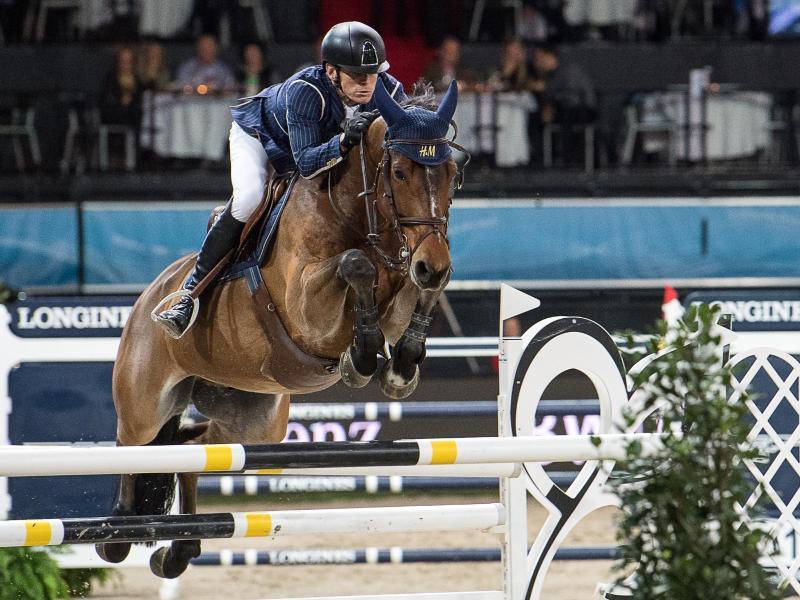 Peder Fredricson schaffte auf seinem Pferd All In in Hamburg den schnellsten fehlerfreien Ritt