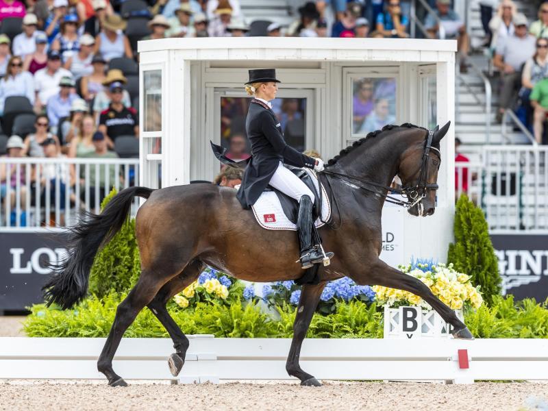 Jessica von Bredow-Werndl hat die die Grand Prix Kür in München gewonnen