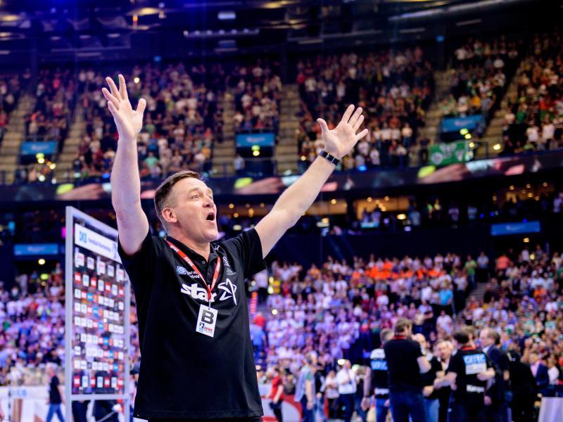 Der Isländer Alfred Gislason möchte sich am liebsten mit dem Meistertitel für den THW Kiel verabschieden