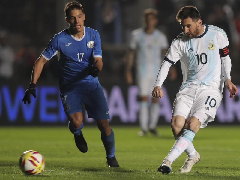 Lionel Messi traf im Test doppelt für Argentinien