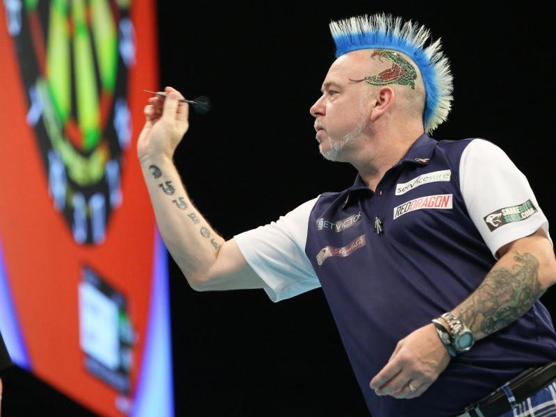 Der schottische Darts-Superstar Peter Wright