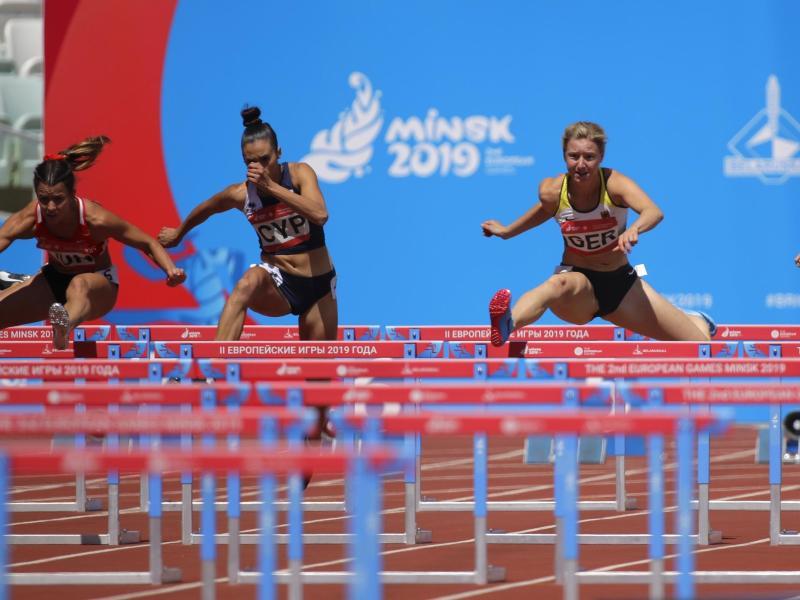 Auch der Hürdenlauf ist Teil der neuen Leichtathletik-Wettkampfform in Minsk