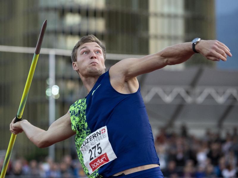 Gewann die Konkurrenz in Luzern im Speerwurf im letzten Versuch: Thomas Röhler