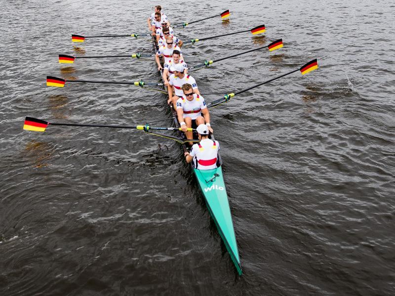 Ist mit einem Sieg ins Weltcup-Finale gestartet: Der deutsche Ruder-Achter