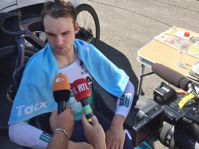 Maximilian Schachmann vom Team Bora-hansgrohe musste verletzungsbedingt die Tour de France aufgeben