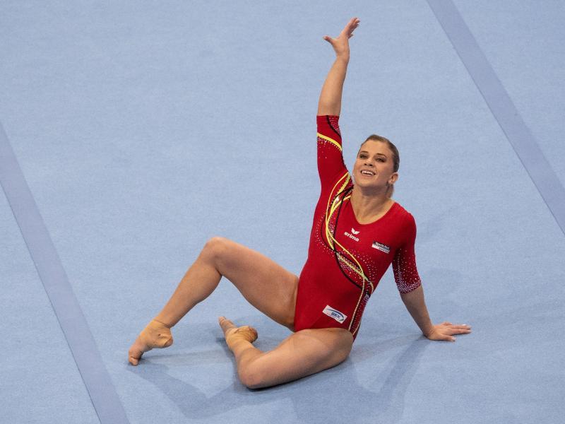 Vor den Finals in Berlin von Fußproblemen geplagt: Topturnerin Elisabeth Seitz