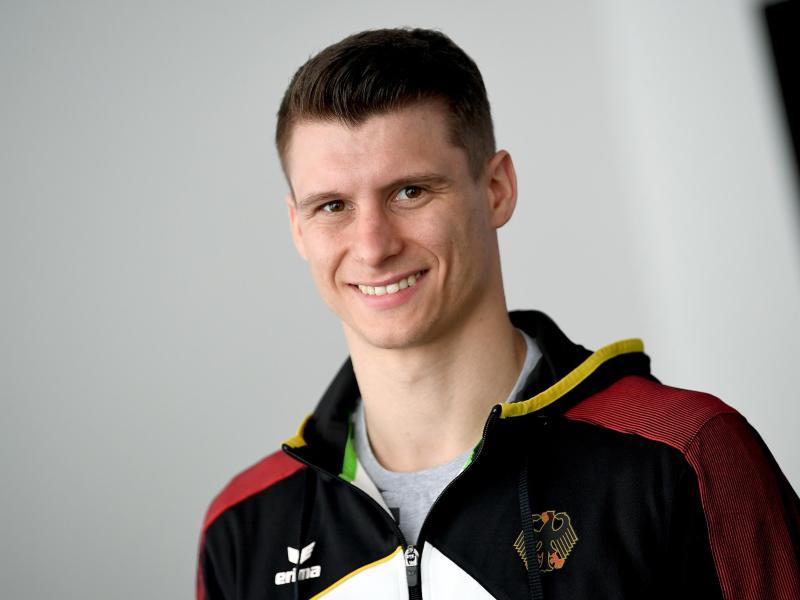 Hatte sich im Trainingslager Kienbaum den Mittelhandknochen der rechten Hand gebrochen: Turner Lukas Dauser