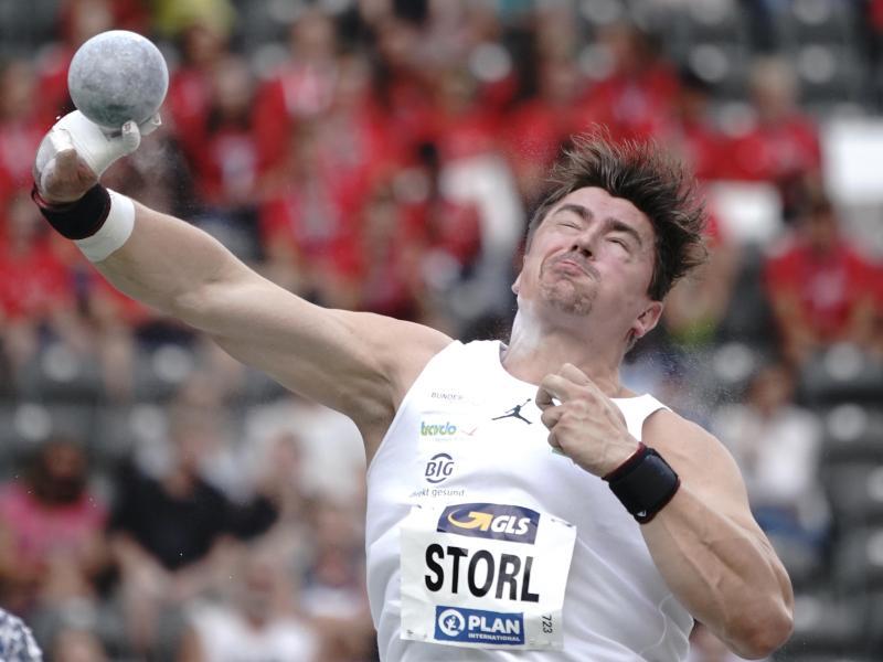 Kugelstoßer David Storl kam bei den deutschen Freiluft-Meisterschaften nur zu einem dritten Platz