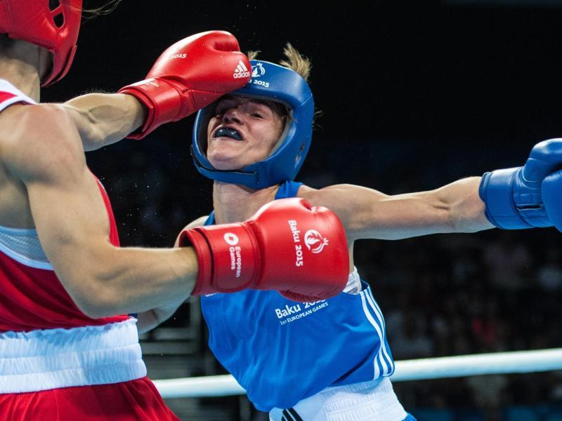 Azize Nimani ist eine von fünf Boxern und Boxerin, die ihren deutschen Meistertitel verteidigen konnten