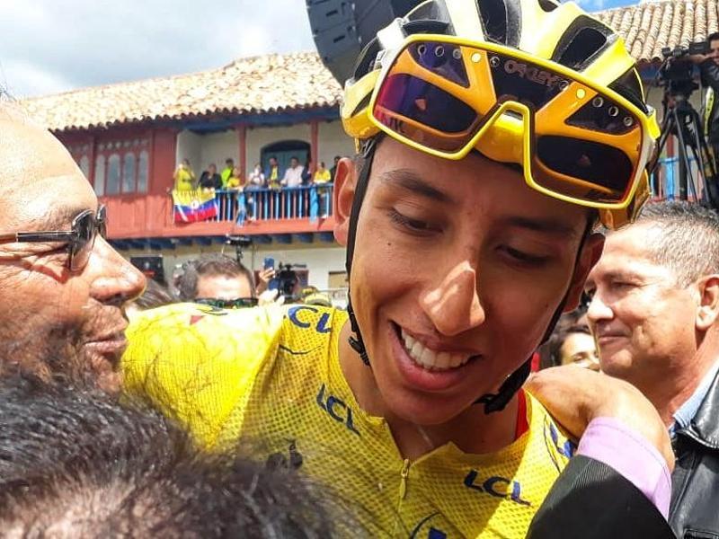 Egan Bernal wird von Anhängern in seiner Heimatstadt Zipaquirá jubelnd empfangen