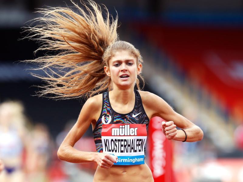 Konstanze Klosterhalfen lief die 1609 Meter beim Diamond-League-Meeting in Birmingham in 4:21,11 Minuten